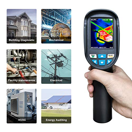Thermal Imaging Camera, Inferred Camera with Real-Time Thermal Image, 2.8 Inches Full Angle TFT Display, Temperature Measurement Range -4 To 572 Degrees Fahrenheit, HT-04 New