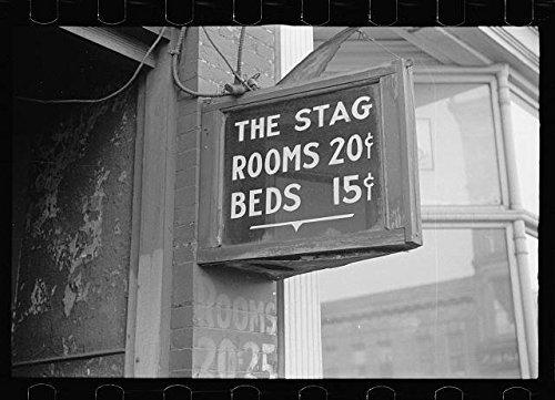 Photo: Flophouse on lower Douglas Street,Omaha,Nebraska,NE,The Stag,1938,Vachon,FSA ()
