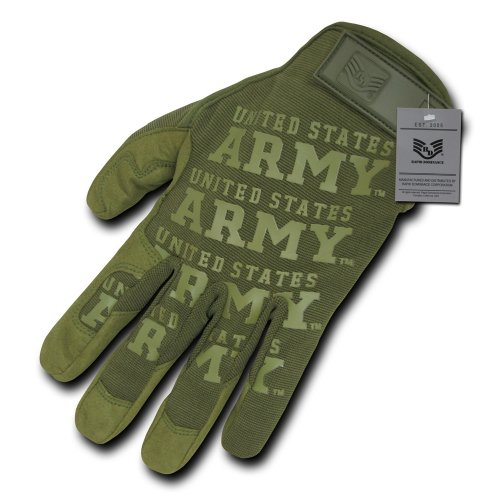 Seal Hoody Sweatshirt - Rapdom Tactical Army Lightweight Mechanic's Gloves, Olive, Large