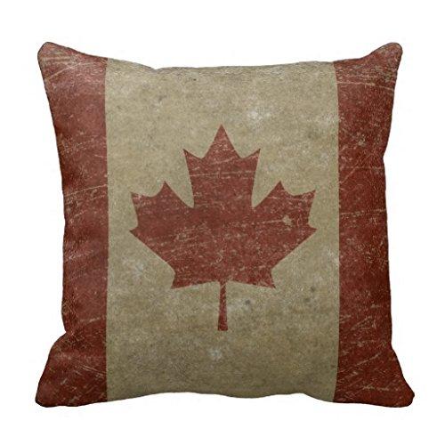 Canada Vintage Flag (Vintage Canada Flag Pillow Case 18