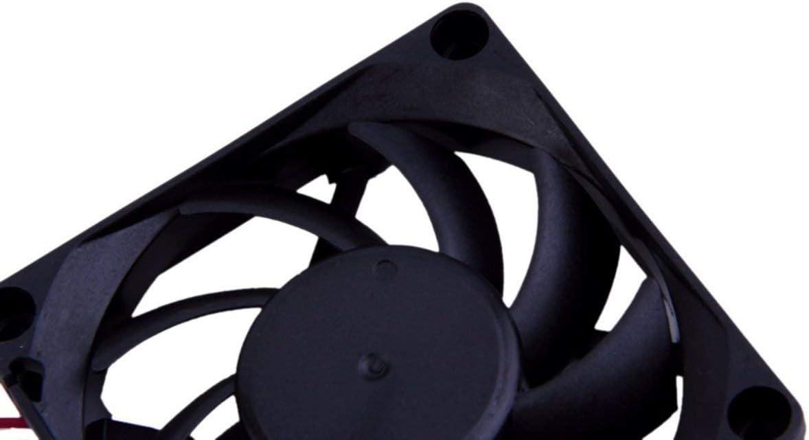 Liobaba Black ABS Energy Saving 16.0dB+//-10/% 3-pin 7cm 12 V Ball Bearing Energy Saving Case Cooling Fan for Computer