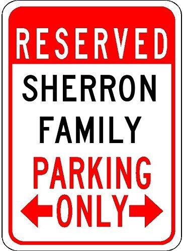 Nascar Sign Parking (Metal Signs Sherron Family Parking - Customized Last Name - 8