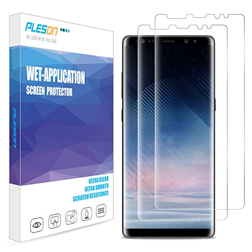 Screen Protector Film Case (Galaxy Note 8 Screen Protector, [2-Pack] PLESON [Case Friendly] Samsung Galaxy Note 8 Screen Protector [Full Coverage][No Lifted Edges] Wet Applied HD Clear film Screen Protector for Galaxy Note 8)