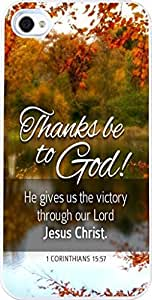 1 Corinthians 15:57 Christian Quote Bible Verses Pattern Print High Quality Hard Plastic Cover Protector Sleeve Case For Apple iphone 6 plus 5.5 G In DDJK Case