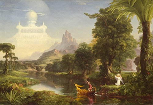 Thomas Cole - The Voyage of Life (Youth), Canvas Art Print, Size 12x18, Canvas Print Rolled in a Tube