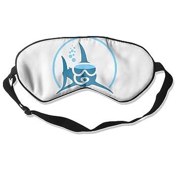 Goods Shops Máscara de Dormir de Seda de Morera con Forma de tiburón para Buceo,