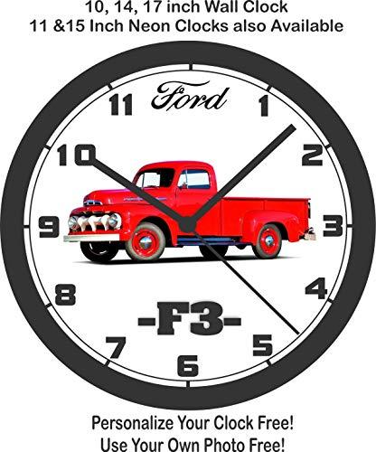 Jim's Classic Clocks 1951 Ford F3 Pickup Truck Wall Clock-Free USA Ship!