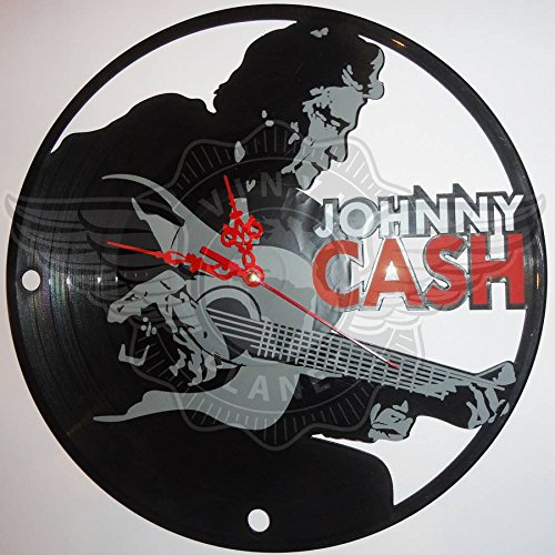 DIY JOHNNY CASH Decorative Designed Modern Vinyl Record Wall Clock Silent Large New Bedroom Livingroom Office Decore Analog Universal Decorate your home Best gift for friend, girlfriend or - Track Priority International Shipping