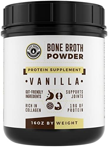 Bone Broth Protein Powder Vanilla 16Oz, Grass Fed – Non-GMO, Gut-Friendly, Dairy Free Protein Powder, Left Coast Performance