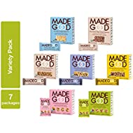 MadeGood Healthy Snacks Variety Pack - 7 Box Mix of Granola Bars, Granola Mini Snack Packs, Crispy Squares; 38 Individual Items Including Vanilla & Fruit Flavors; Vegan and Gluten Free