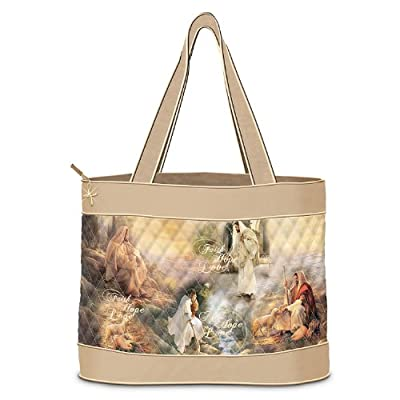 Greg Olsen Guided By Love Christian Art Tote Bag by The Bradford Exchange