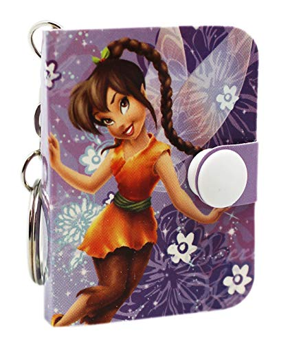 Disney Fairies Fawn Violet Floral Cover Mini Notepad Keychain