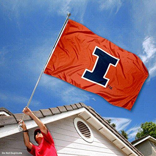 Illinois Fighting Illini Large New Logo 3x5 College Flag