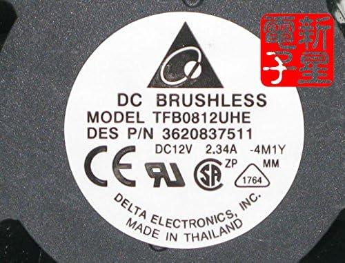 Wholesale For for delta TFB0812UHE 5H2L DC12V 2.34A Server Square inverter axial cooling fans 80x80x38mm DES P//N 3620837511