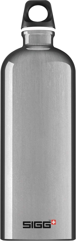 SIGG Aluminum Traveller Water Bottle (1.0 L), Black, Lightweight Reusable Water Bottles, Easy-Carry Leak Proof Water Bottle, Travel Bottles for On the Go, BPA-Free