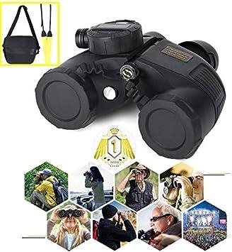 Jacksking Binoculares Profesionales, 7 x 50 Binoculares Impermeables al Aire Libre HD Senderismo Observación de Aves con brújula Buscador de Rango