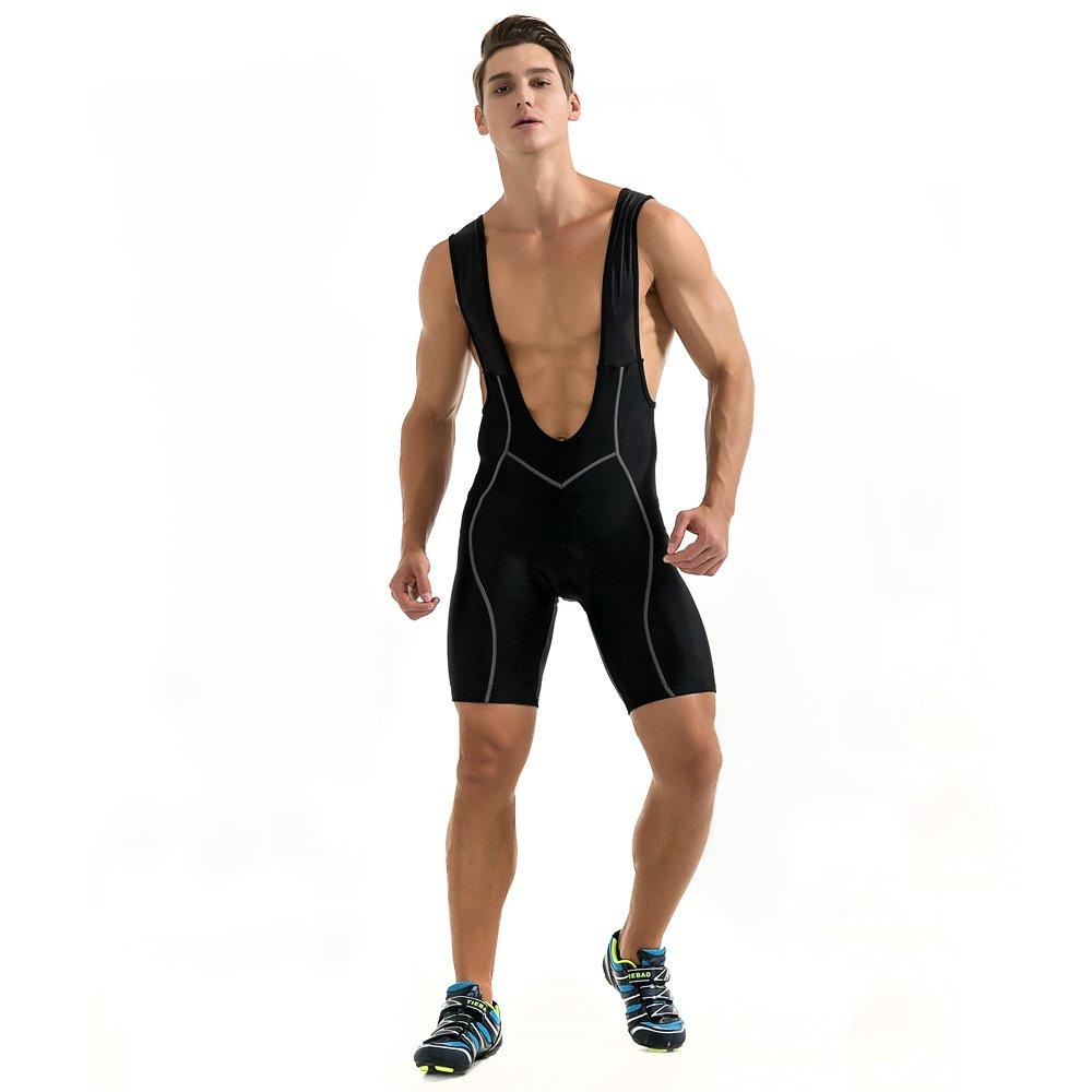 WOLFBIKE Men's Cycling Bib Shorts Bicycle Bike 3D Padded Bibs Shorts Black, size XXL