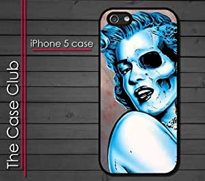 iPhone 5C (New Color Model) Rubber Silicone Case - Marilyn Monroe Skull Painting