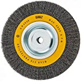 DEWALT Wire Wheel for Bench Grinder, Crimped Wire, 8-Inch (DW4906): more info
