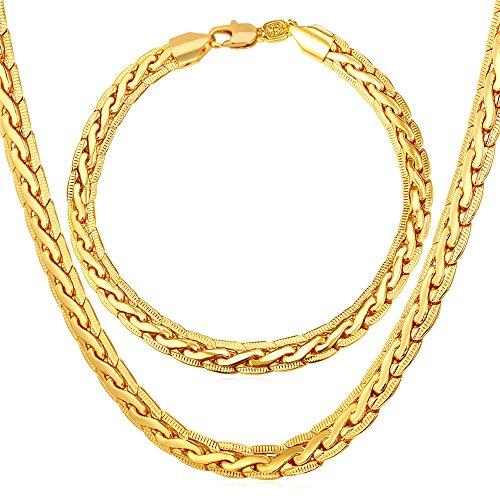 Necklace Bracelet Platinum Plated Jewelry