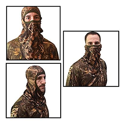 DecoyPro Camo Face Mask – Camo Face Mask Hunting Mask – Turkey Hunting Face Mask – Bow Hunting Face Mask Mesh - Duck Hunting Face Mask – Camouflage Face Mask Hunting