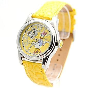 f96112ac3 Disney Mujer Reloj Automático Reloj Daisy Duck Diseño Piel brillantes ABC _  Disney de 22: Amazon.es: Relojes