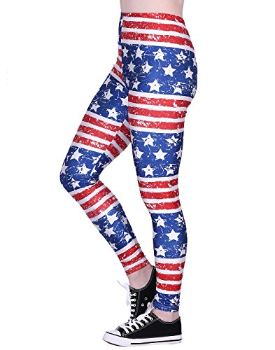 Women's Leggings Graphic Print Tights Fun Digital Design Holiday Elastic Pants ()