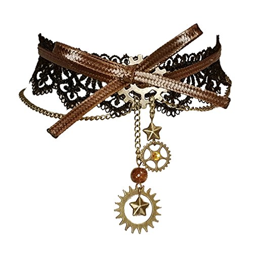 HappyStory Steampunk Vintage Retro Necklace Punk Machine Choker for Women