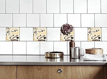 Adesivi per piastrelle cucina caffè Dimensioni della pellicola del ...