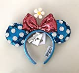 Disney Parks Minnie Mouse Bow Flower Polka Dot Sequin Ears Headband