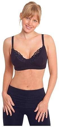 3e81d12fdd JoJo Maman Bebe Lace Trim Maternity and Nursing Bra - Black-Medium  Amazon. co.uk  Clothing