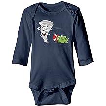 Cartoon Tornado With Frog Autumn Long Sleeve Newborn Baby Boys Girls Toddler Climb Jumpsuit | Crawling Clothes