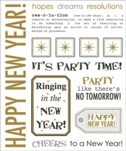Amazon.com: SRM Stickers Say It Stickers, New Year\'s
