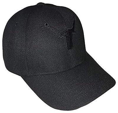 Longhorns Adjustable Curved Bill Baseball Cap Texas (One Size, Black)