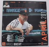Bruce Bochy AUTOGRAPHED San Francisco Giants 12x12 Calendar Page Signed 15X
