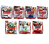 Cars Diecast Bundle of 7 Geartrude, Alberto, Carateka Chase, Harumi, Hydraulic Ramone, Dexter Hoover, and Race Team Fillmore with Headset