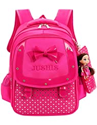 Fanci Cute Bowknot Kids Backpack Primary School Book bag with pencil case