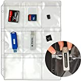 STORE SMART - Plastic Pages - Memory (SD) Cards and Flash Drives - Top Load with Flaps - for 3-Ring Binders - 25-Pack - RMSTWPF-MEMRY-25