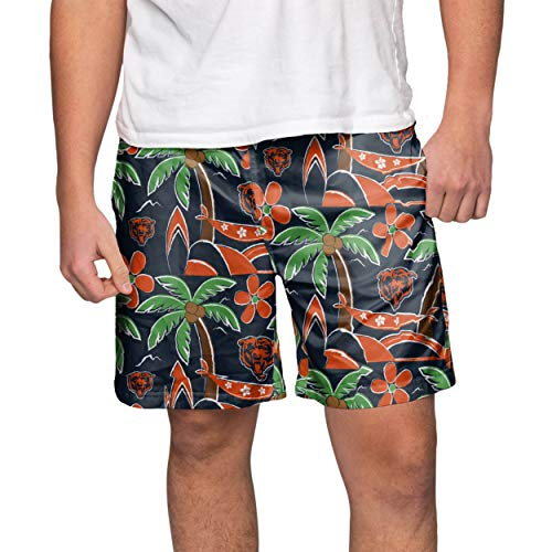 (FOCO NFL Chicago Bears Mens Tropical Swim Suit TrunksTropical Swim Suit Trunks, Team Color, Medium)
