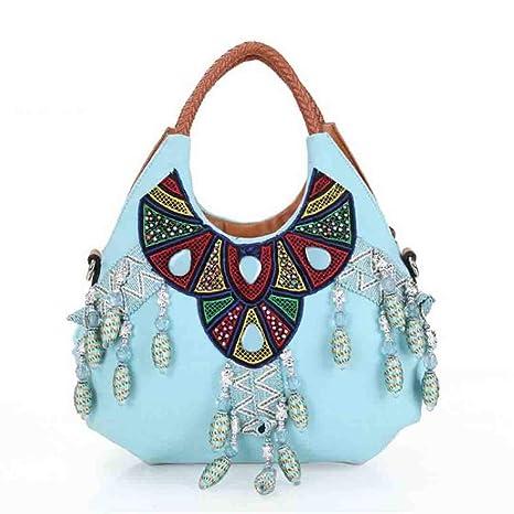 Las Bolsas de Asas de Lona de Color Azul a Granel Vintage ...