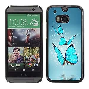 Stuss Case / Funda Carcasa protectora - MARIPOSAS AZULES - HTC One M8