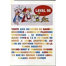 Catalogue de vente aux enchères - Laval 98 - Couverture Spirou, Fantasio, Marsupilami, Spip