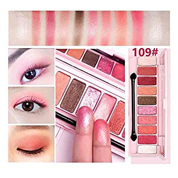 Amazon.com : Peach Matte Eyeshadow Palette For Red Shadows Korean Makeup Brand Pink Cherry Blossom Glitter Eyes Shadows Palette Kit 109 : Beauty