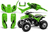 CreatorX Honda Trx 300 Graphics Kit Decals Stickers Tribal Bolts Green