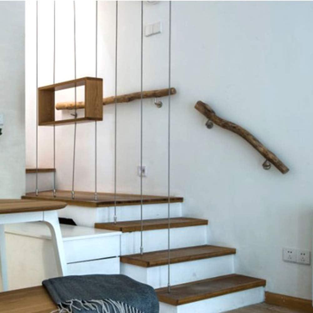 Home-Life - Barandilla de madera fija a la pared, barandilla para escaleras, pasamanos antideslizante, para bares, pasillos y baldosas: Amazon.es: Bricolaje y herramientas
