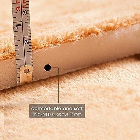 Aikesi Tappeto Ispessimento Strisce Verticali Modello Coral Velvet Memory Foam Tappeto Padiglioni Bagno Tappeto
