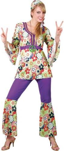 1960s - Disfraz de hippie para mujer, talla XS (EF-2091. XS ...