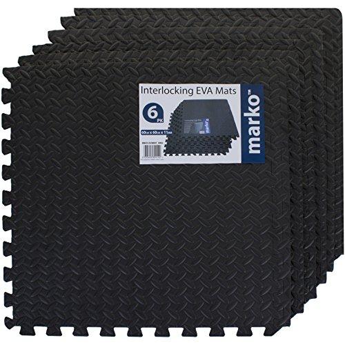 24 Sq Ft Interlocking Foam Mats Tiles Gym Play Garage Workshop Floor Dark Grey Buy Online In