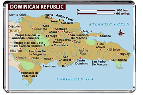 M205 MAP OF THE DOMINICAN REPUBLIC FRIDGE MAGNET THE DOMINICAN REPUBLIC TRAVEL REFRIGERATOR MAGNET ()