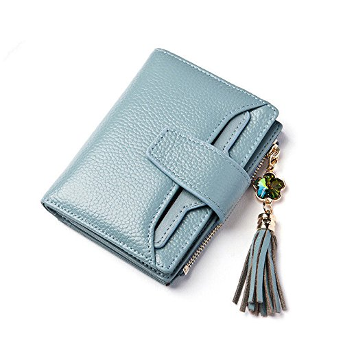 New Women Ladies Fashion Short Wallet Genuine Leather Coin Purse Card Holder